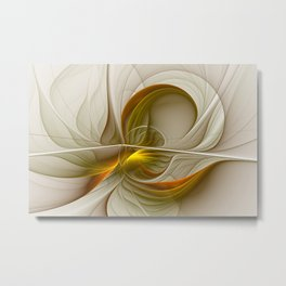Abstract With Colors Of Precious Metals 2 Metal Print