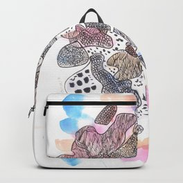 170323 Magical Unfolding 15  |Modern Watercolor Art | Abstract Watercolors Backpack