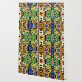 Colorful  Nature Wood Pattern Psychedelic Art Wallpaper