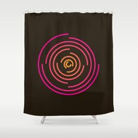 neon Shower Curtains featuring Neon by Jeff Merrick