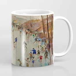 Classical Masterpiece Sunday Skaters in Central Park by Martha Walter Coffee Mug