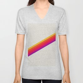 VHS Rainbow 80s Video Tape Unisex V-Neck