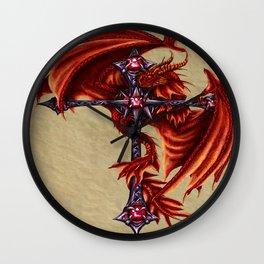 Dragon Cross Design Wall Clock