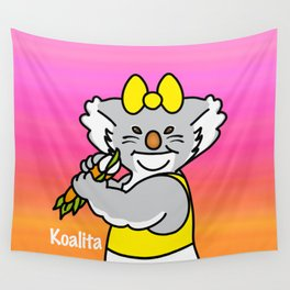 Koalita leaves sandwich Wall Tapestry