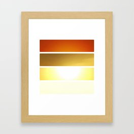 Grid #5 (Layered Rise, White) Framed Art Print