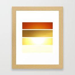 Grid #5 (Layered Rise, White) Framed Art Print