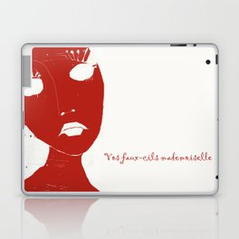 « vos faux-cils mademoiselle » Laptop & iPad Skin
