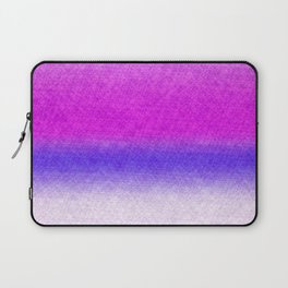 Abstract lilac blue pink geometrical ombre Laptop Sleeve