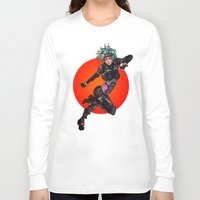 police Long Sleeve T-shirts featuring Cyber Police by Ben Krefta