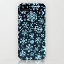 Blue Snowflake Background iPhone Case