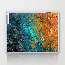 ETERNAL TIDE 2 Rainbow Ombre Ocean Waves Abstract Acrylic Painting Summer Colorful Beach Blue Orange Laptop & iPad Skin