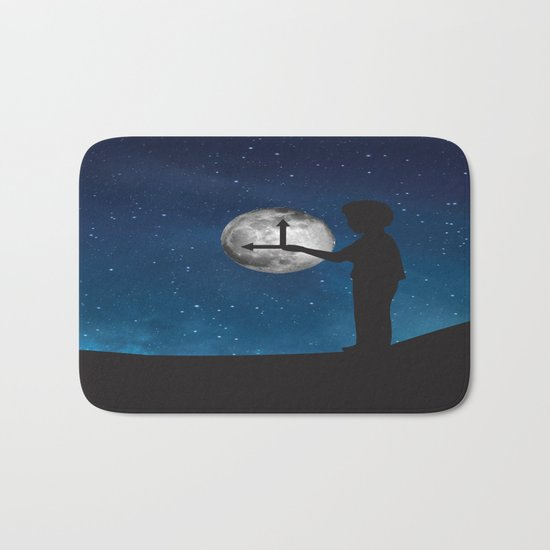 Nine o'Clock Moon Bath Mat