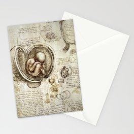 Baby in the womb - Leonardo da Vinci Stationery Cards
