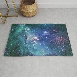 Turquoise Star Galaxy Rug