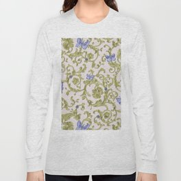 Butterfly Leaf Baroque Floral Long Sleeve T-shirt