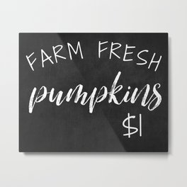 Farm Fresh Pumpkins Metal Print