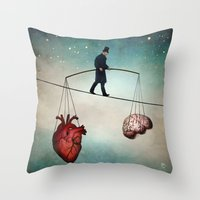 christian Throw Pillows featuring The Balance by Christian Schloe