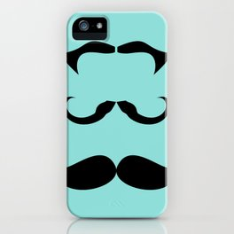 Mustache 3 of a Kind iPhone Case
