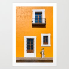 Finding Gold On The Streets of Puebla Mexico Art Print