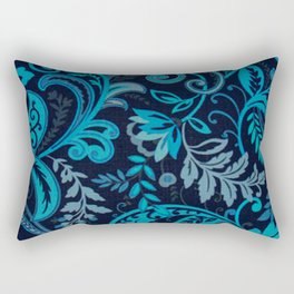 Classic Paisley in Navy and Blue Rectangular Pillow