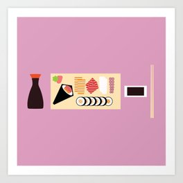 Soy Sauce Meal Art Print