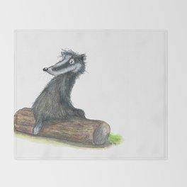 Badgers Date Throw Blanket