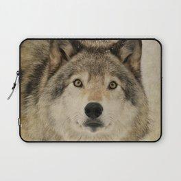 Timber Wolf Portrait Laptop Sleeve