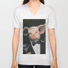 Elitist Pig Unisex V-Neck