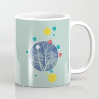 planets Mugs featuring Planets by Tamsin Lucie