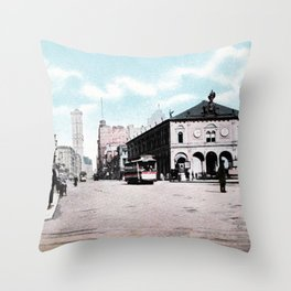 ca 1900 Herald Square New York City Throw Pillow