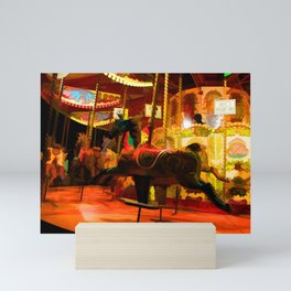 Midnight Carousel Ride Mini Art Print