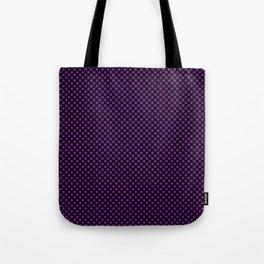 Black and Winterberry Polka Dots Tote Bag