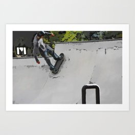 Up the Ramp  - Skateboarder Art Print