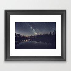 Speeding Through the Night Framed Art Print