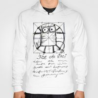 da vinci Hoodies featuring Kot da Vinci (black) by Katja Main