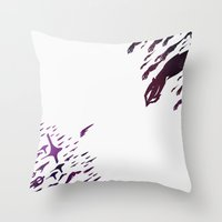 mass effect Throw Pillows featuring Mass Effect 100% Readiness by Fabio Castro