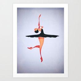 Black swan Ballerina Art Print