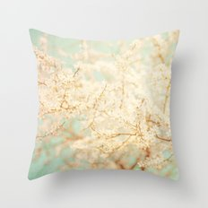 Sea of Blossoms Throw Pillow