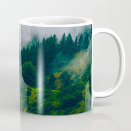 Moist Rainy Forest Pine Trees  Green Hills Coffee Mug