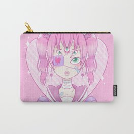 Sickly Quintclops Girl Carry-All Pouch