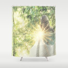~The Light of Hope~ Shower Curtain