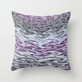 Ripples Fractal in Muted Plums Throw Pillow