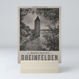 Retro Placard Les Bains salins de Rheinfelden voyage poster Mini Art Print