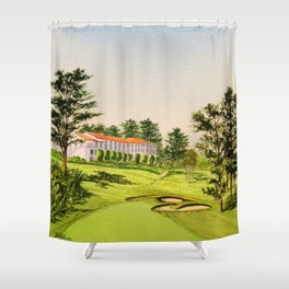 The Olympic Golf Course 18th Hole Shower Curtain