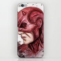 daredevil iPhone & iPod Skins featuring Daredevil by rchaem