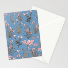 Flowers on Blue! Stationery Cards