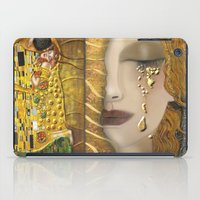 gustav klimt iPad Cases featuring My Klimt Serie:Gold by Müge Başak