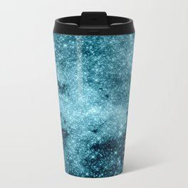 Teal Galaxy STars Travel Mug