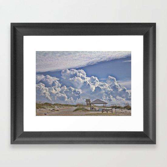 Cloud Merge Framed Art Print