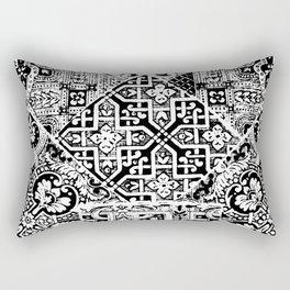 celtic knot black & white Rectangular Pillow